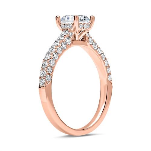 585er Roségold Ring mit Brillanten