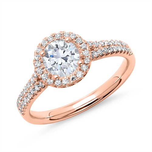 Ringe - Verlobungsring 585er Roségold mit Diamanten  - Onlineshop The Jeweller