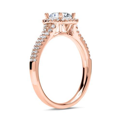 Verlobungsring 585er Roségold mit Diamanten