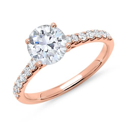 Ring 750er Roségold mit Diamanten