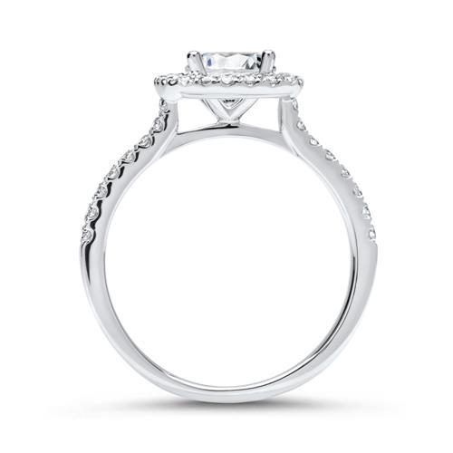 Halo-Ring 750er Weißgold mit Diamanten