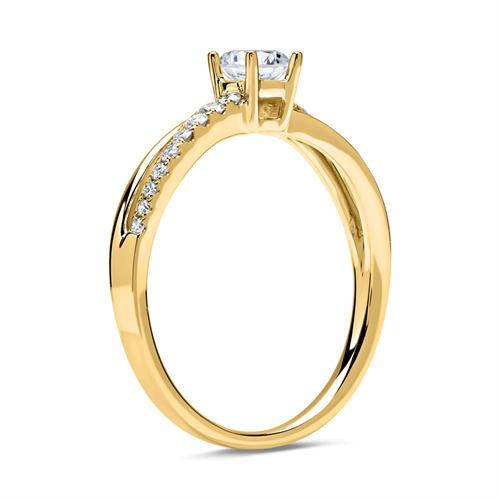 585er Gold Ring mit Brillanten