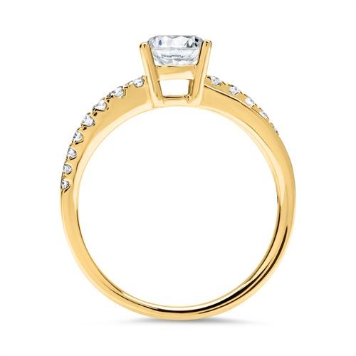ring 750er gold mit brillanten dr0193 18kg. Black Bedroom Furniture Sets. Home Design Ideas
