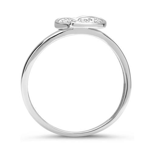 585er Weißgold-Ring Herz 10 Diamanten 0,06 ct.