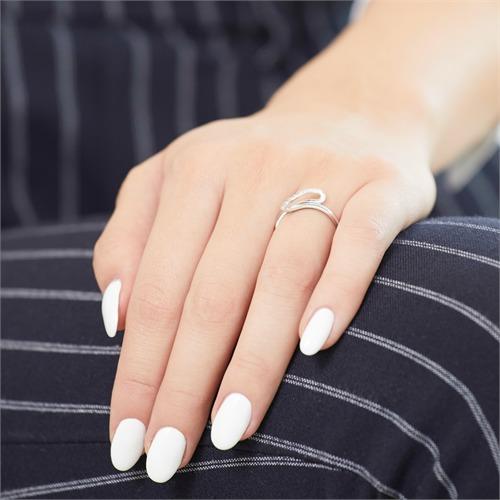 Ring 585er Weißgold mit 9 Diamanten 0,0855 ct.