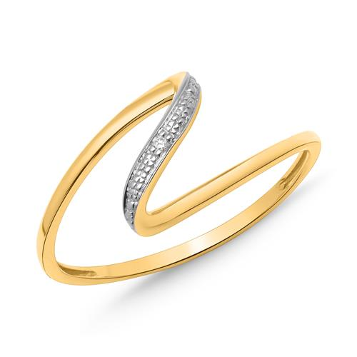 Ring 585er Gelbgold Diamant 0,0052 ct.