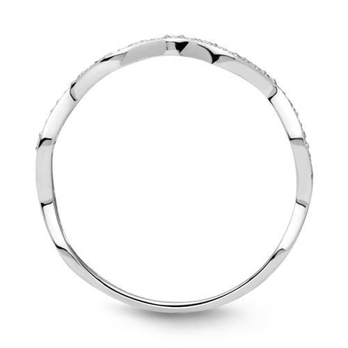 Ring 585er Weißgold Diamant 0,033 ct.