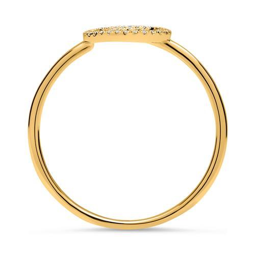 Ring 750er Gelbgold Kreise Diamanten 0,09 ct.