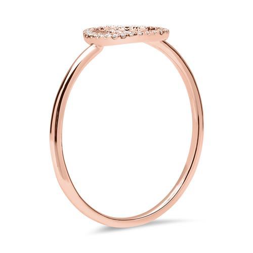 Ring 750er Roségold Kreise Diamanten 0,09 ct.
