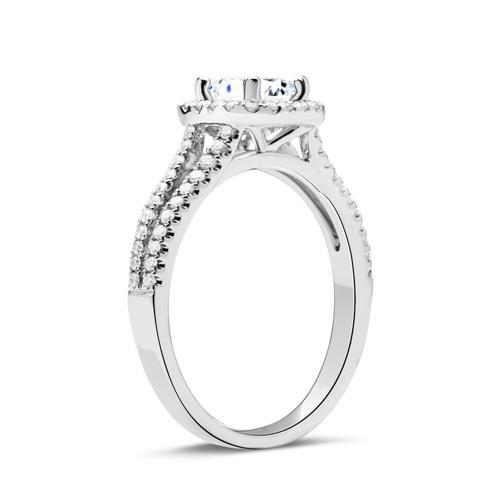 Ring Weißgold 18 Karat mit Diamanten