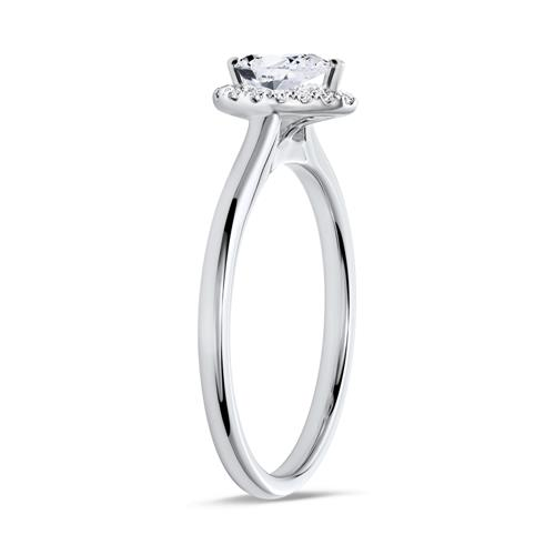 750er Weißgold Ring Damen mit Diamanten
