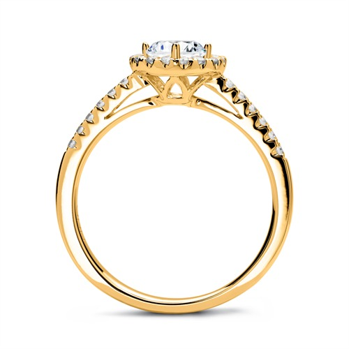 Halo Ring 750er Gold mit Diamanten