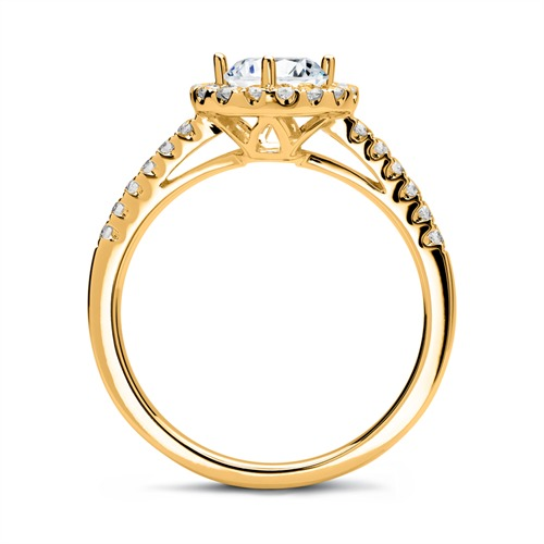 Diamantring 585er Gold