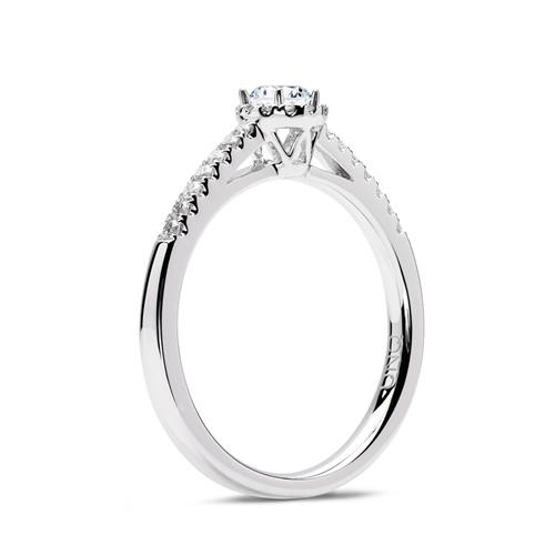 Ring 950er Platin mit Diamanten