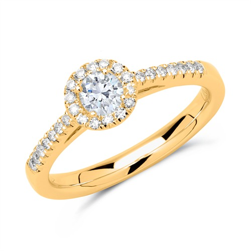 Halo Ring 750er Gold mit Brillanten DR0296-18KG