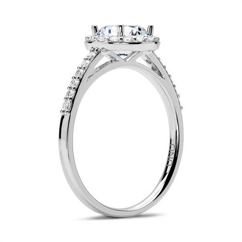 Halo Ring 950er Platin mit Diamanten