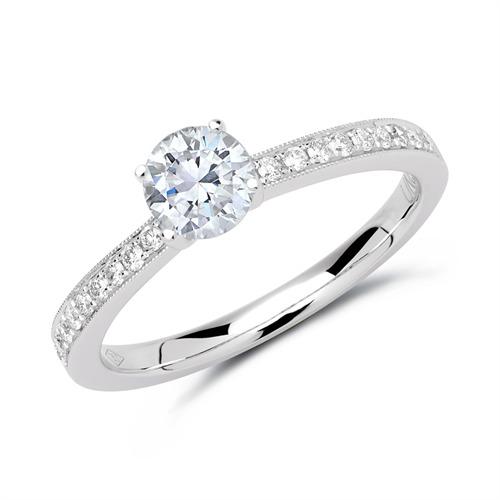 Ring aus 950er Platin mit Diamanten DR0304-PT