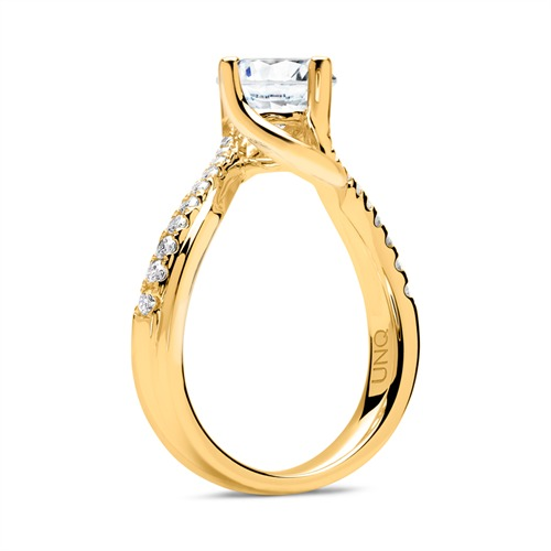 Ring 750er Gold mit Diamanten