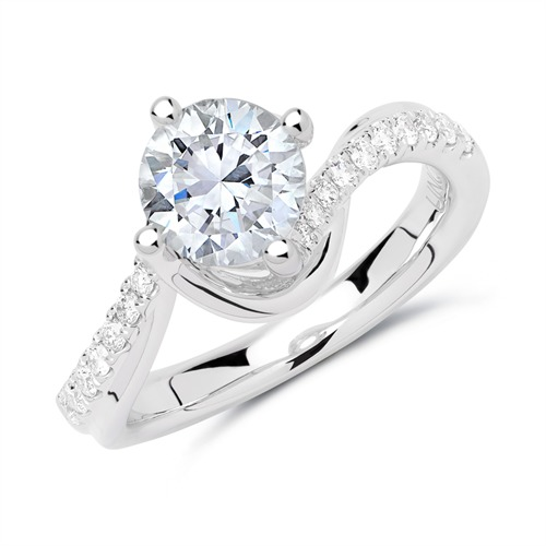 Ringe - Ring 950er Platin mit Diamanten  - Onlineshop The Jeweller