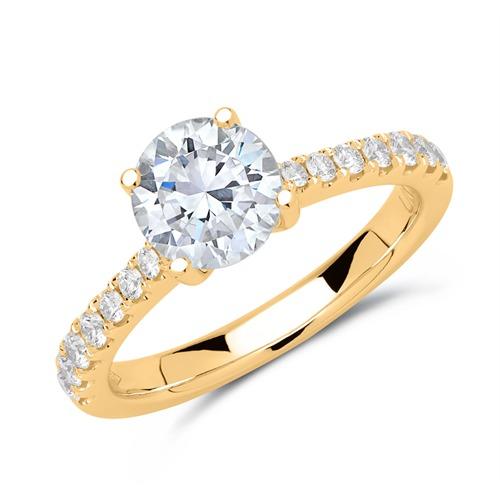 ring 750er gold mit brillanten dr0312 18kg. Black Bedroom Furniture Sets. Home Design Ideas