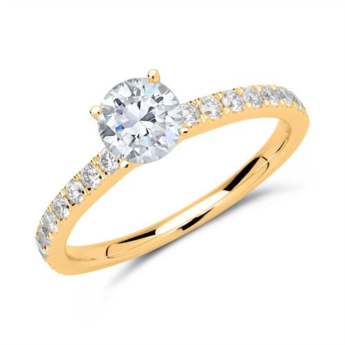 750er Gold Ring mit Brillanten