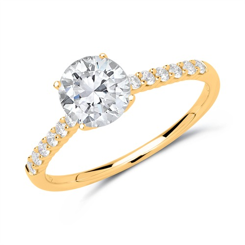 Ringe - Diamant Ring 750er Gold  - Onlineshop The Jeweller