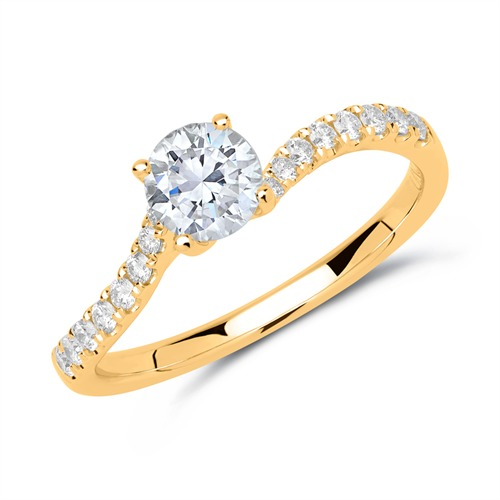 Ringe - Verlobungsring 585er Gold mit Diamanten  - Onlineshop The Jeweller