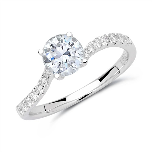 Ring 950er Platin mit Diamanten DR0325-PT
