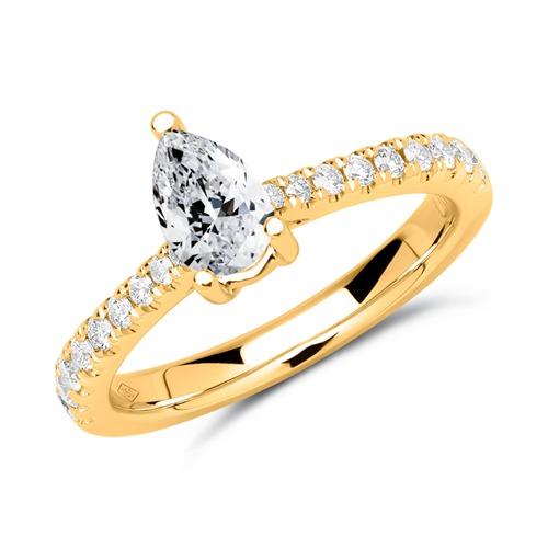 750er Gold Ring mit Brillanten