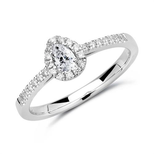 Ring 950er Platin mit Diamanten DR0336-PT