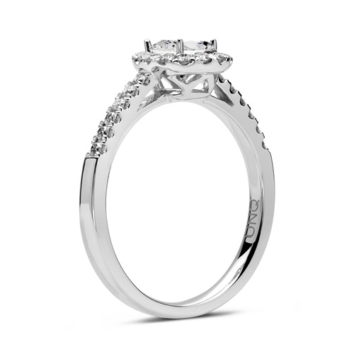 Verlobungsring 750er Weißgold mit Diamanten