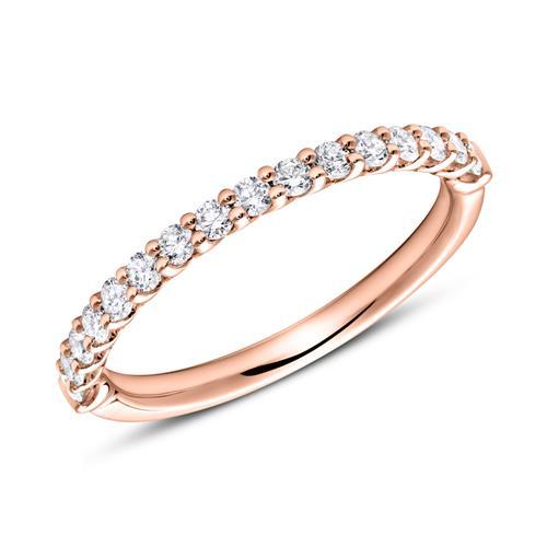 Eternity Ring 585er Roségold 16 Diamanten