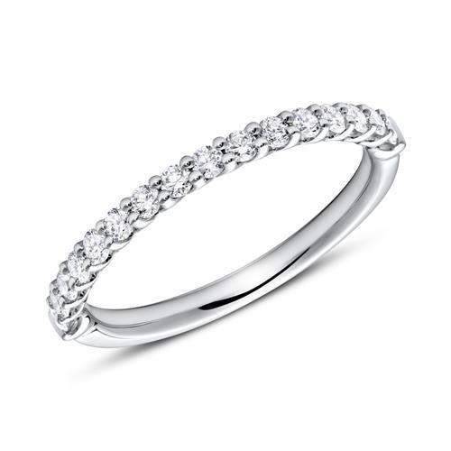 Eternity Ring 750er Weißgold 16 Diamanten