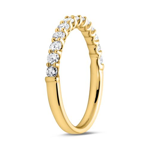 Memoire Ring 750er Gold 13 Diamanten