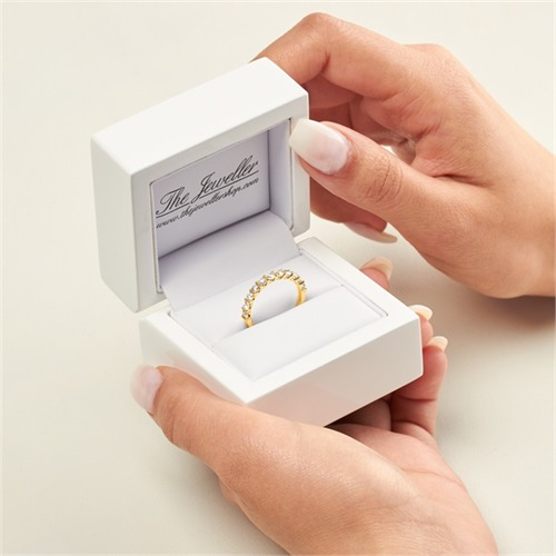585er Gold Eternity Ring 13 Brillanten