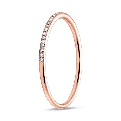 Memoire Ring 585er Roségold Diamanten