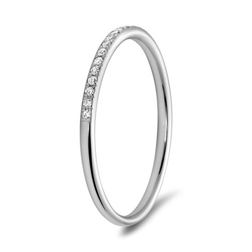 Memoire Ring 950er Platin 25 Diamanten