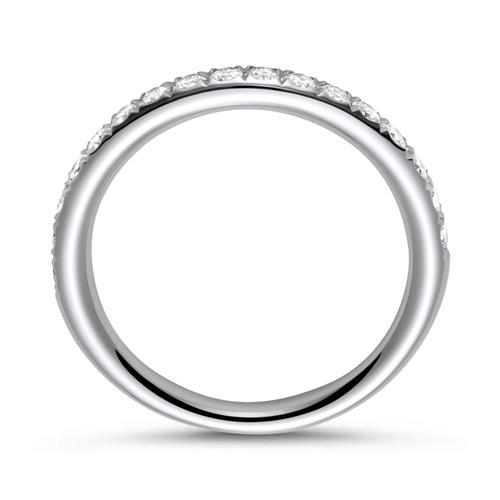 950er Platin Memoire Ring 17 Brillanten