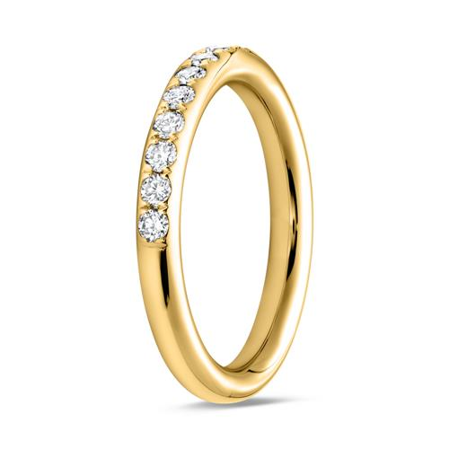 Ring Eternity 750er Gold 16 Diamanten