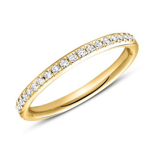 750er Gold Ring Eternity 43 Diamanten