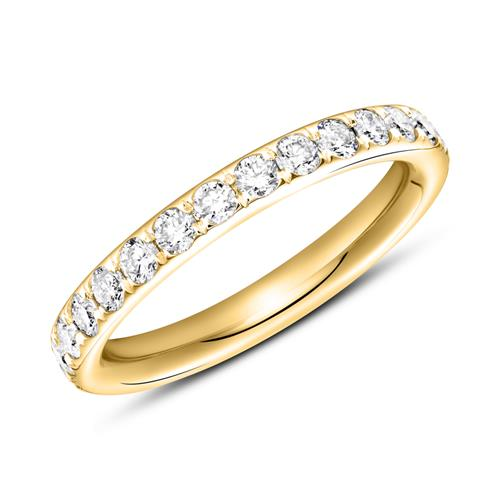 750er Gold Memoire Ring 28 Diamanten