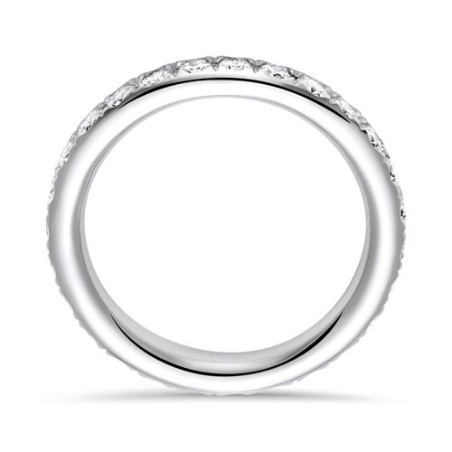 750er Weißgold Eternity Ring 27 Diamanten