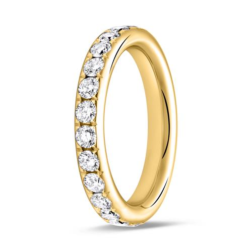 Eternity Ring 14K Gold 25 Diamanten