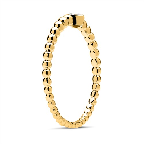 750er Gold Ring Herz 3 Diamanten