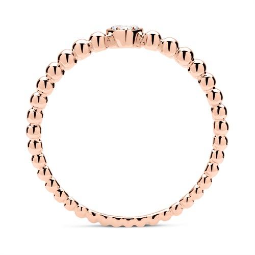 18K Roségold Damen Ring 3 Brillanten