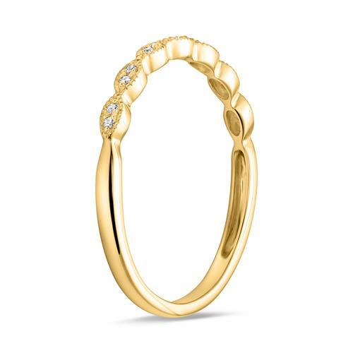 Damenring aus 14-karätigem Gold mit Brillanten