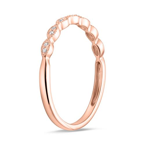 Ring für Damen aus 14K Roségold mit Diamanten