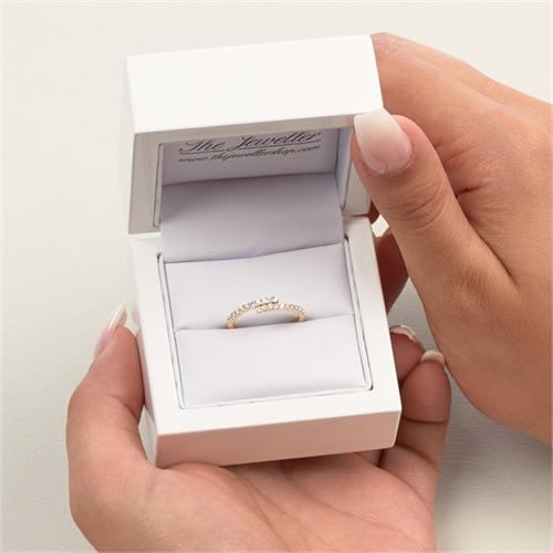 585er Gold Ring für Damen mit 2Diamant