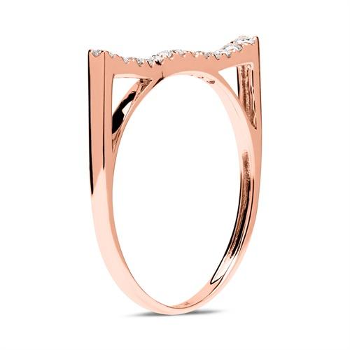 Ring 585er Roségold mit 13 Diamanten