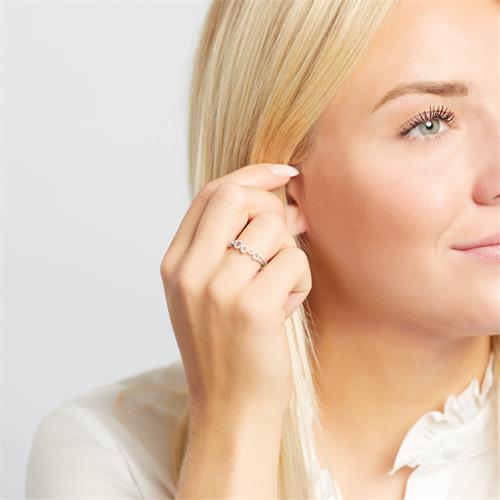 Ring Kreise 750er Weißgold Diamanten